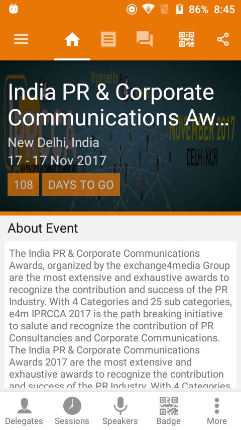 Communications Conference & Awards- screenshot