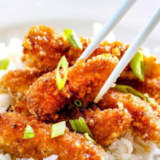 Crispy Chinese Lemon Chicken.