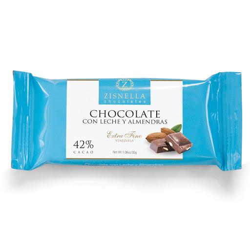 chocolate zisnella con leche y almendras