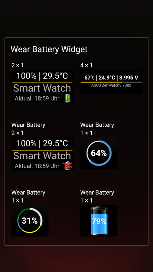 Wear Batterie Widget- screenshot