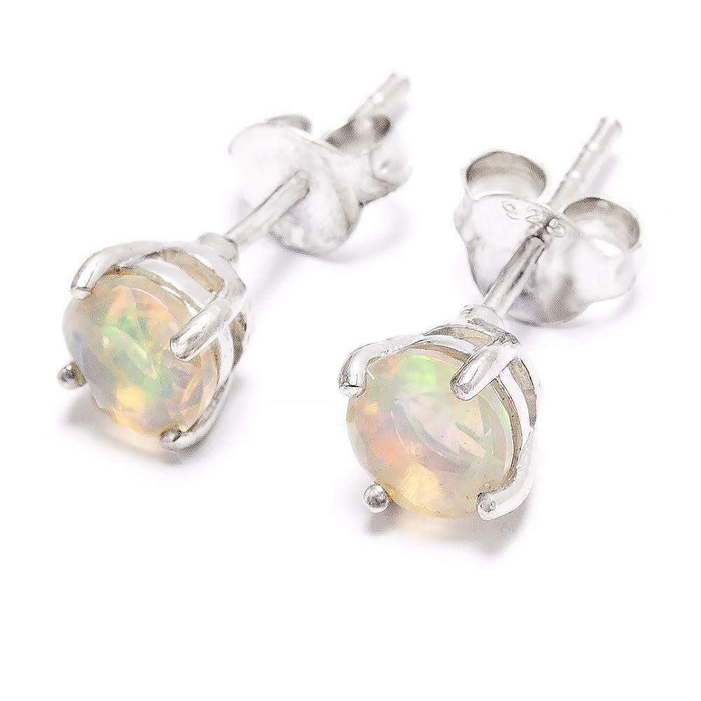 Etiopisk opal, fasetterat stiftörhänge