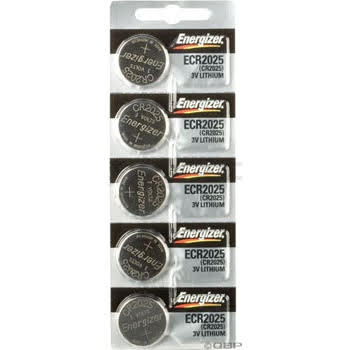 Energizer CR2025 Lithium Battery Card of 5 ORMD