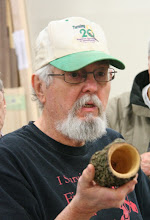 Photo: Ed made a little dogwood branch into a natural-surface vessel.  This is a perfect use for a hook tool...