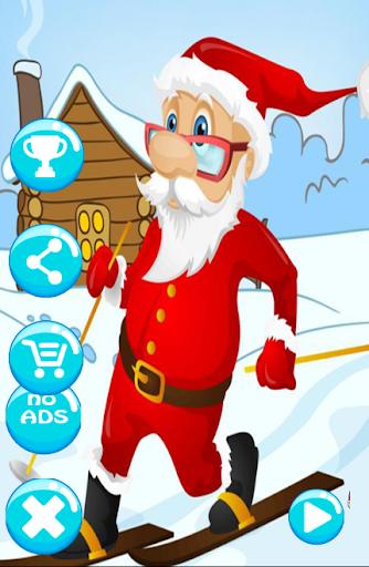 Santa snow skater