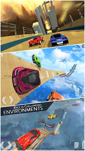 Mega Ramp Race - Extreme Car Racing New Games 2020 apkmind screenshots 1