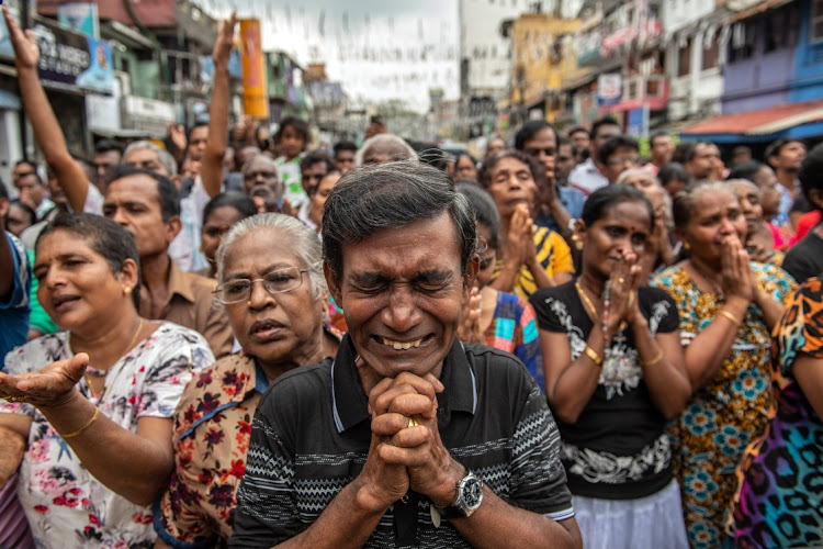Image result for sri lanka bomb man crying