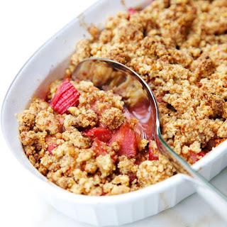 Rhubarb Crisp.