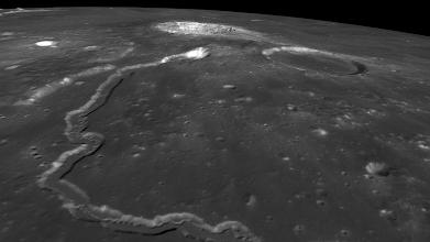 Photo: Vallis Schröteri leading to Aristarchus crater, very isolated features in Oceanus Procellarum.