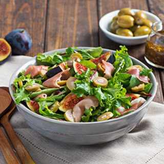 Fig Salad with Bleu Cheese Olives