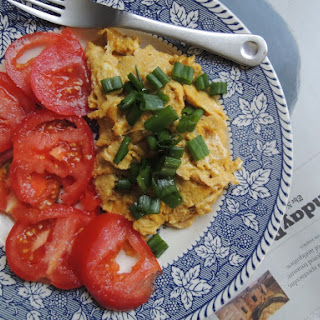 Tomato, Soy Sauce, and Scrambled Eggs.