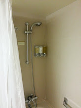 Photo: Shower in the bathroom of room 055 on ms Ryndam.
