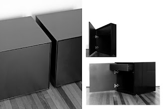 Photo: Black Lacquered Nightstands