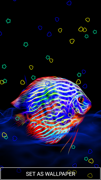 Neon Animals Wallpaper Moving Backgrounds Android App Screenshot