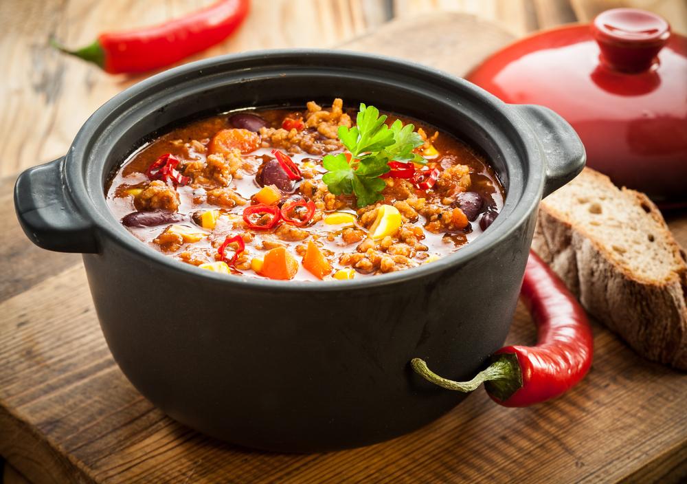 a large pot of chili