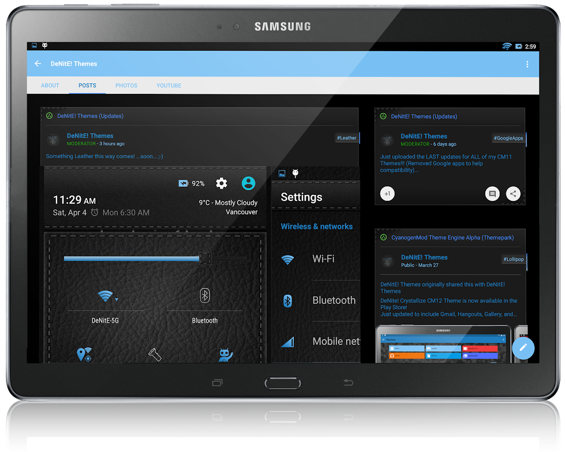 CM12 Theme Black Leather Blue - Android Apps on Google Play
