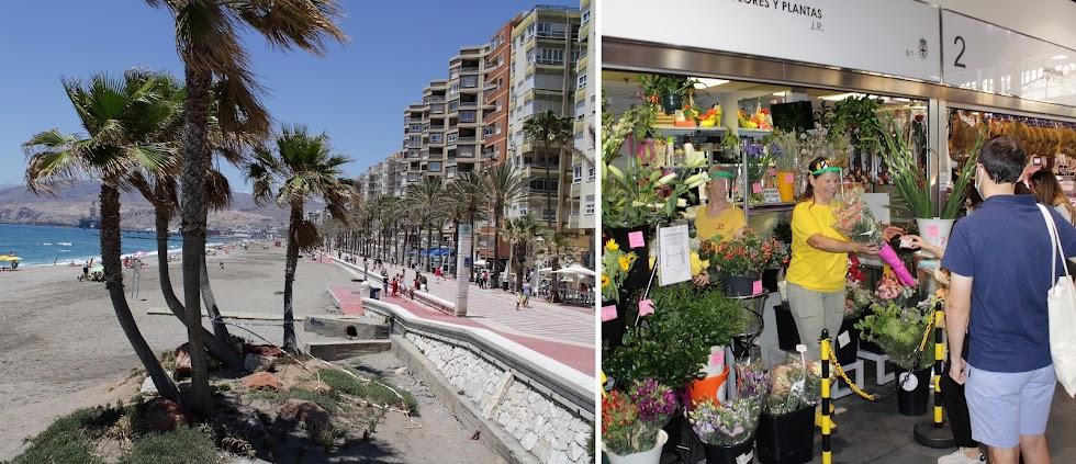 Paseo Marítimo y Mercado Central.