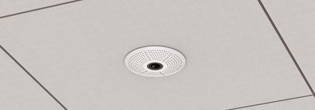 Photo: Mobotix c25 indoor in-ceiling IP camera, shown in-ceiling.