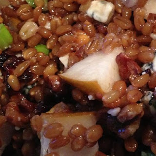 Pear Walnut Wheat Berry Salad