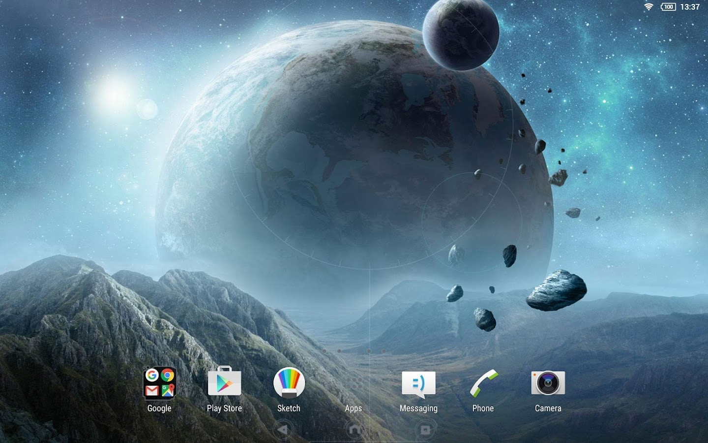 XPERIA™ Galactica Theme- screenshot