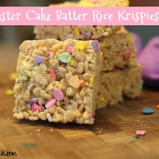Easter Cake Batter Rice Krispies