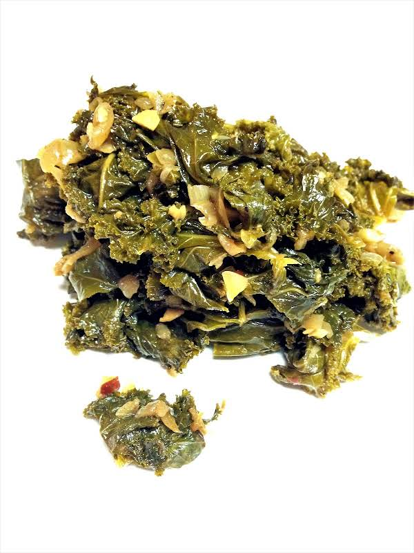Spicy Collard Greens With Spiced Butter