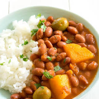 Puerto Rican Rice and Beans (Habichuelas Guisadas).