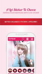 Cute Kawaii Photo Sticker - náhled