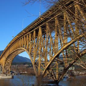 Iron Workers Memorial Bridge, Vancouver by Reinilda Sissons - Buildings & Architecture Bridges & Suspended Structures ( vancouver bc canada, iron workers memorial, bridge,  )