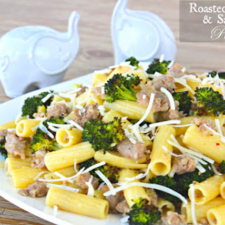 Roasted Broccoli and Sausage Pasta