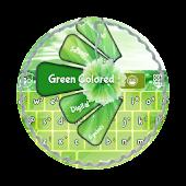 Green Colored GO Keyboard