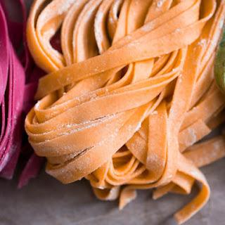Orange Tomato Paste-Colored Fresh Pasta