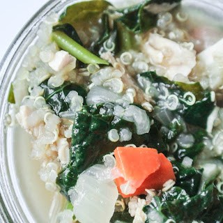 Chicken Soup with Kale and Quinoa {Healthy + Easy}