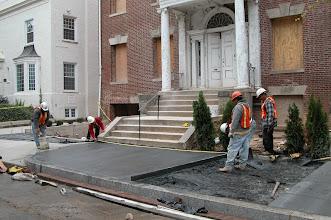 Photo: October 2004 - Month 14: New sidewalk!