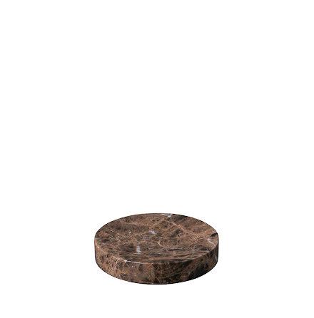 Marmorbricka Ø 11 cm, Brun, PESA