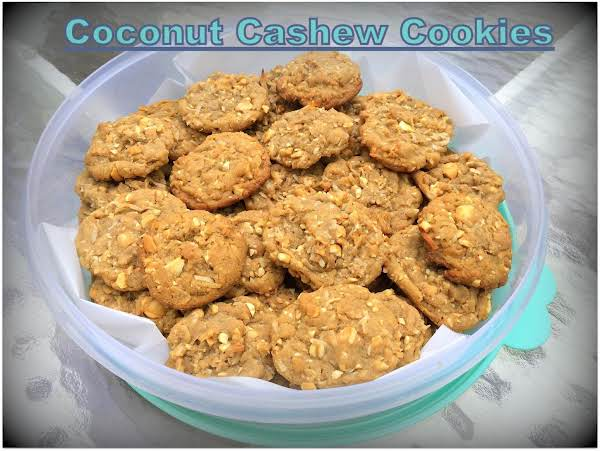 Coconut Cashew Cookies Recipe
