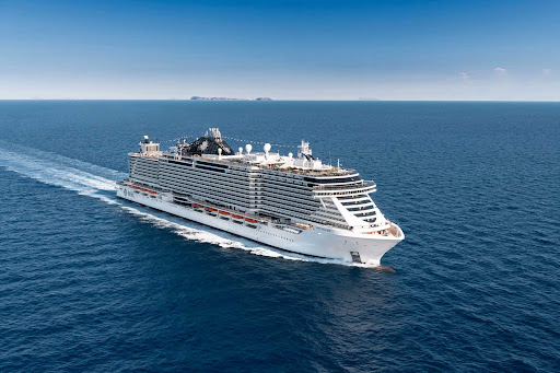 msc-seaview-at-sea.jpg - The 4,134-passenger MSC Seaview offers the latest in technology and family entertainment in cruises to destinations in the Mediterranean.