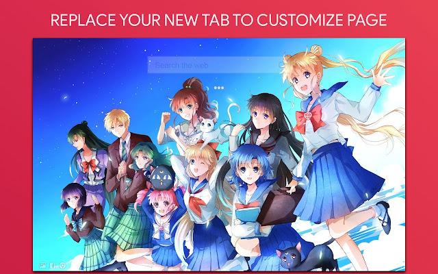 Sailor Moon Wallpaper HD Custom New Tab