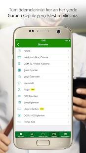 Garanti Mobile Banking - náhled