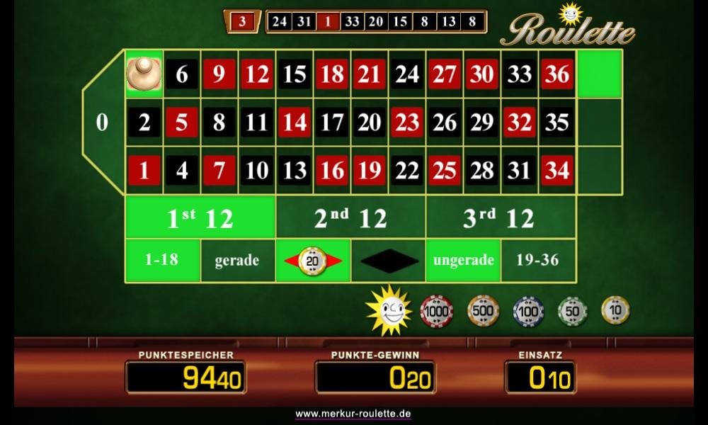 Merkur Roulette- screenshot