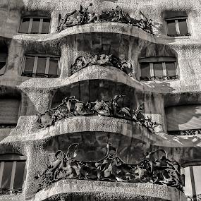 Casa Milà - Barcelona by Rui Quinta - Buildings & Architecture Architectural Detail ( milà, gaudi, architecture, barcelona, spain )