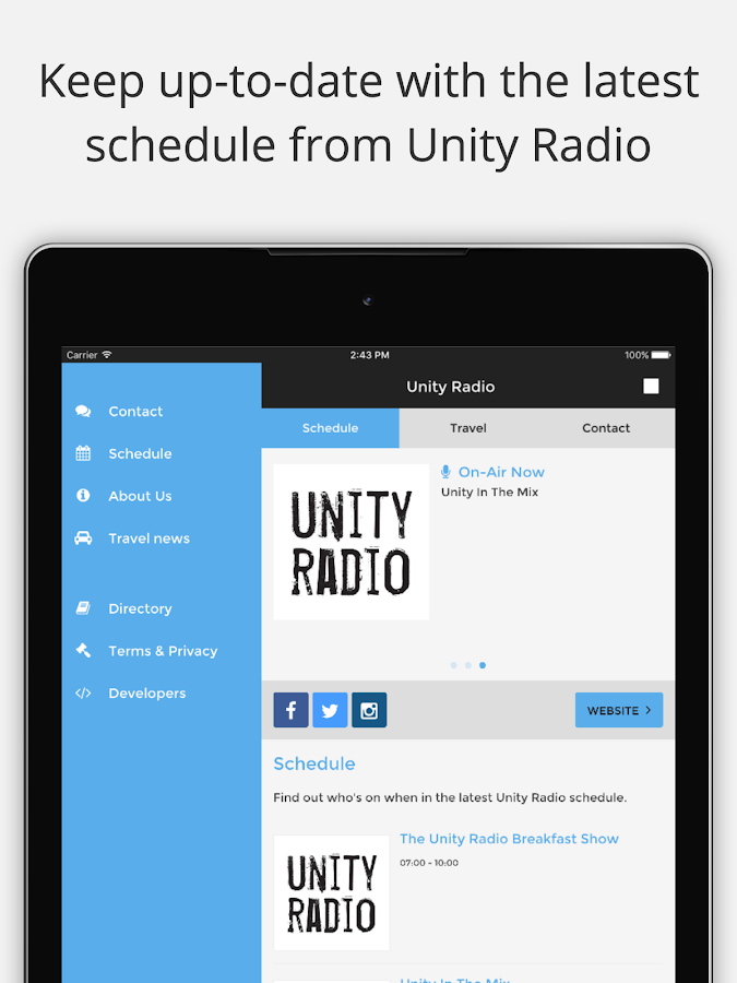 Unity Radio- screenshot