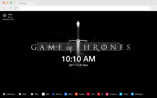 Game of Thrones Popular TV HD New Tabs Theme