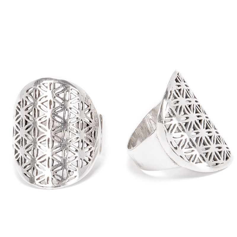Flower of life, silverring