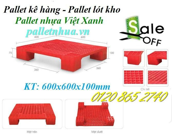Pallet nhựa 600x600x100