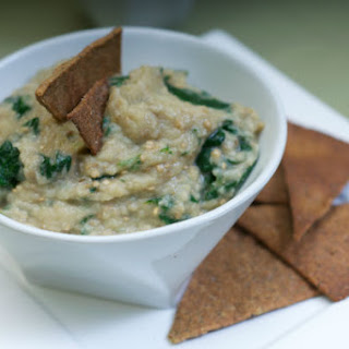 Roasted Eggplant Dip with Wilted Spinach
