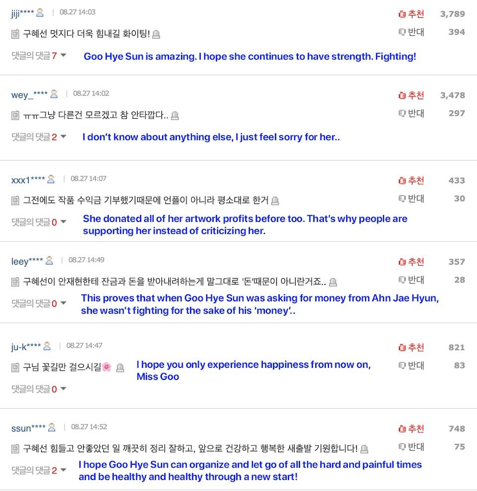 goo hye sun donation