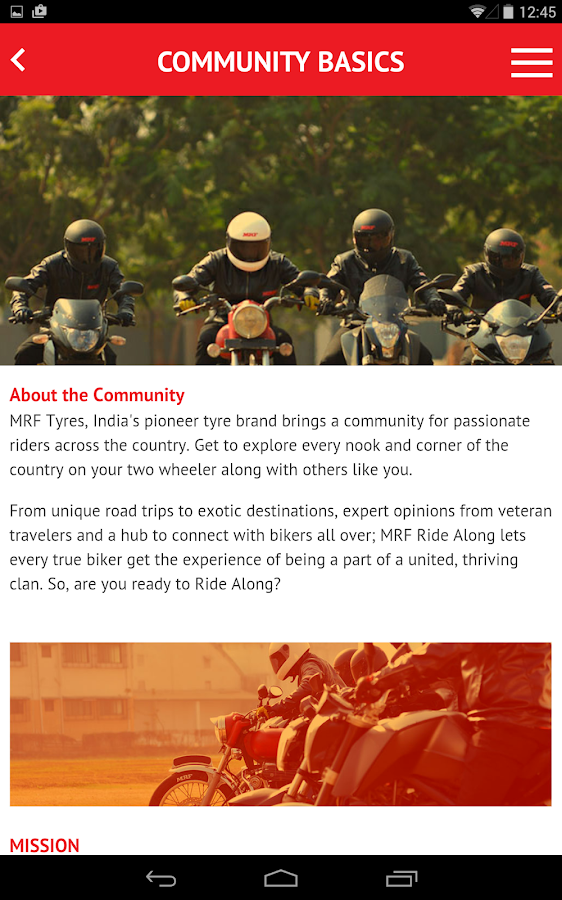 Ride Along with MRF- screenshot