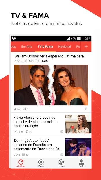 Central das Notícias- Esporte, fofocas dos famosos screenshot 1