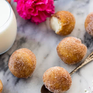 Inside Out Cinnamon Roll Donut Holes.