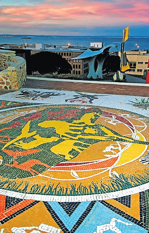 The Piazza Mosaic by the NMMU ceramic collective on PE's Route 67.